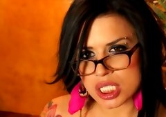 Eva Angelina stroking on cam