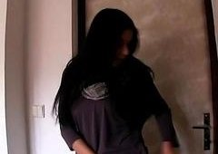 Dark haired Czech babe screwed for money