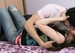 This 18yo girl having cum in her loving hole