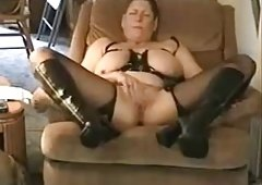 Amateur. Aged pervert grandma stroking