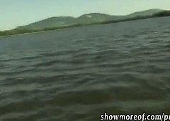 Busty Czech girl Nikol nailed on boat