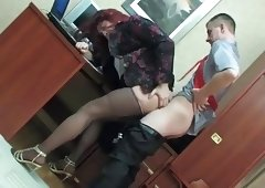 CD Makes Love Her Boss In The Office