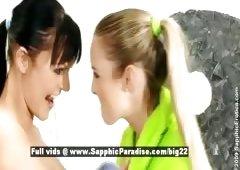 Sally and additionally Salma stunning lesbians girls licking