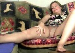 Mom receives aroused easily in her sheer stockings