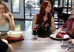 Glamorous redhead bitch fools with her lesbian lover