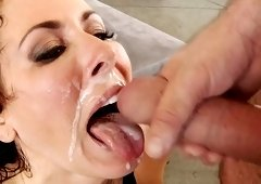 Busty mature gets a lot of dick in her premium holes